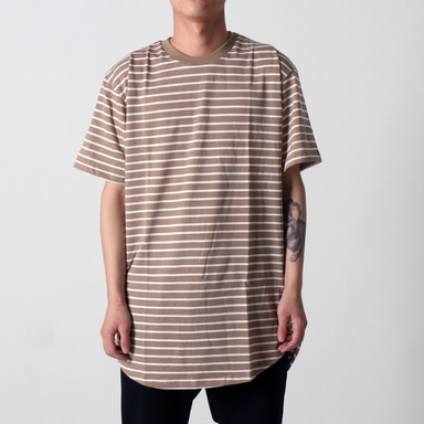 [$ SHOP SALE] [EPTM] STRIPE 2.0 OG LONG TEE (TAN/WHITE)