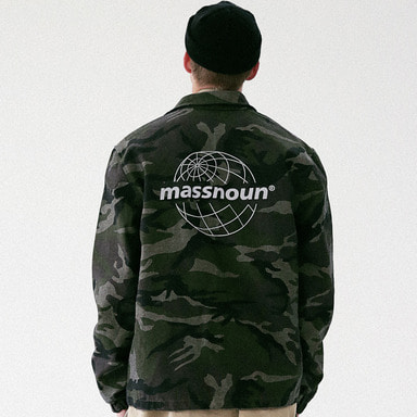 [MASSNOUN] GLOBE SCOTCH LOGO COACH JACKET MFVJK003-CM