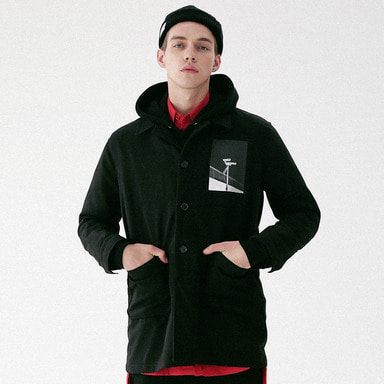 [MASSNOUN] OBSERVER SINGLE WOOL COAT MFVCT002-BK