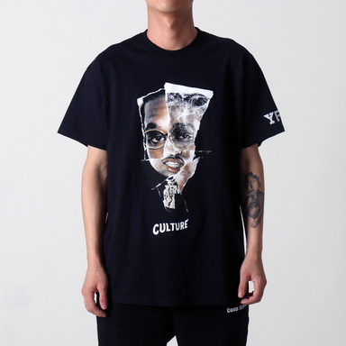 [$ SHOP SALE] [YRN] FACEOFF TEE (BLACK)