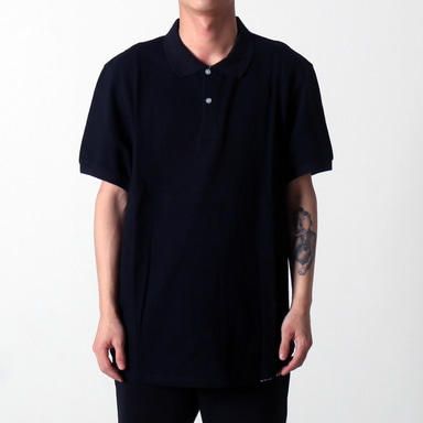 [쿠드그라스 연말 FINAL SALE] [EPTM] SCOOP PIQUE POLO (BLACK)