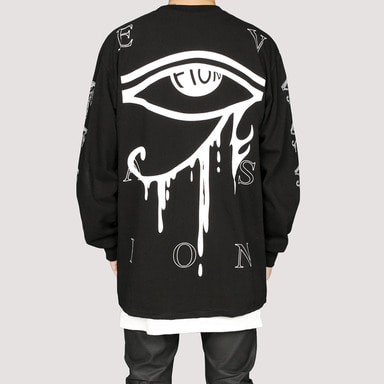 [FION] U-DJAT EYE LONG SLEEVE T-SHIRT BLACK