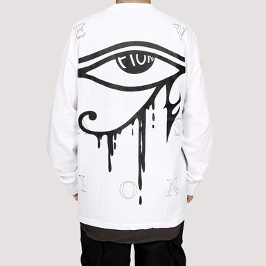 [FION] U-DJAT EYE LONG SLEEVE T-SHIRT WHITE