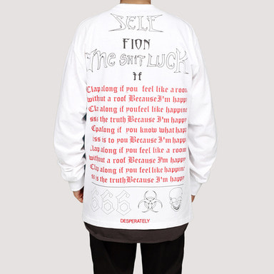 [FION] LETTERING LONG SLEEVE T-SHIRTS WHITE
