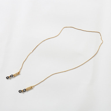 [9FIVE] 24K GOLD MICRO BOX CHAIN EYEWEAR LANYARD