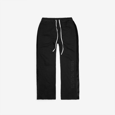 [DPRIQUE] SLOGAN TRACK PANTS - BLACK