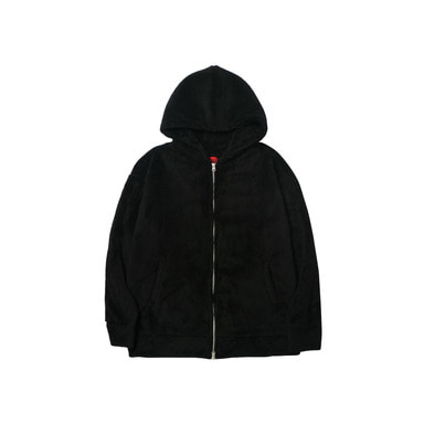 [DEADEND] BLACK SHERPA 2WAY ZIP HOODIE