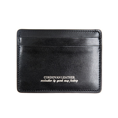[AGINGCCC] 213# BLACK CORDOVAN X CARD WALLET