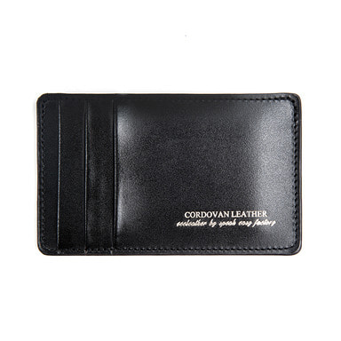 [AGINGCCC] 214# BLACK CORDOVAN Y CARD WALLET