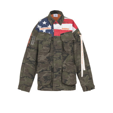 [VAN CALLE CAMINOS] Calle western stone washed ribstop jacket (camo) [limited]