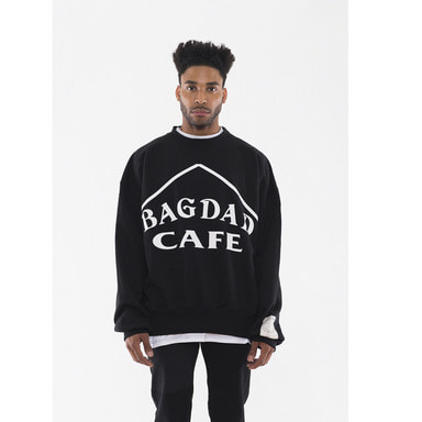 [VAN CALLE CAMINOS] Calle bagdad cafe Tape sweatshirts (black)