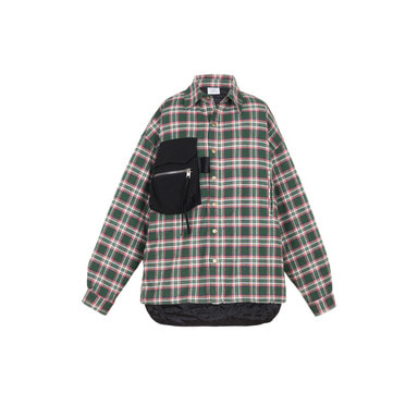 [VAN CALLE CAMINOS] Calle Green oversized pockets Flannel shirt
