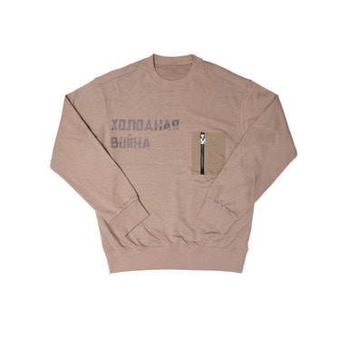 [OVERR] 17FW POCKET BEIGE SWEATSHIRTS
