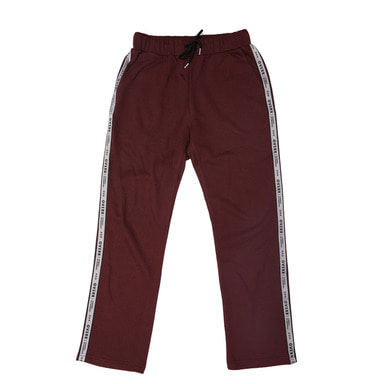 [OVERR] 17FW SIDE TAPING BURGUNDY PANTS