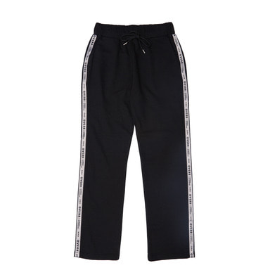 [OVERR]  17FW SIDE TAPING BLACK PANTS
