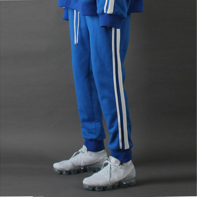 [TAKEASY]LINE CROP JOGGER (BLUE)