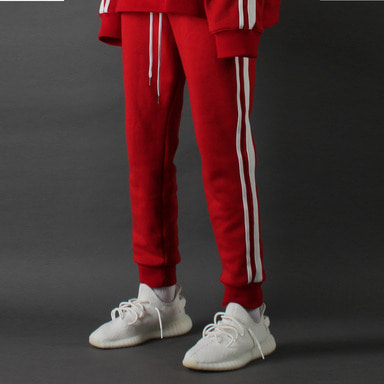 [TAKEASY] LINE CROP JOGGER (RED)