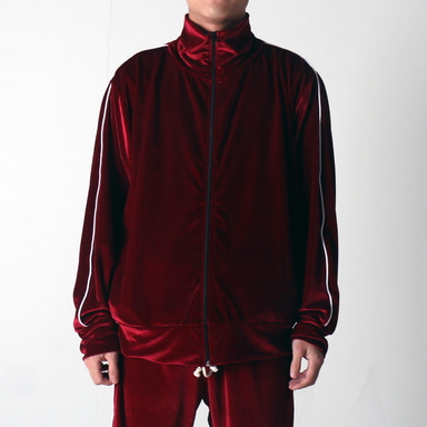 [쿠드그라스 연말 FINAL SALE] [EPTM] VELOUR TRACK JACKET (BURGUNDY)