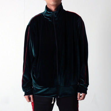 [쿠드그라스 연말 FINAL SALE] [EPTM] VELOUR TRACK JACKET (GREEN)