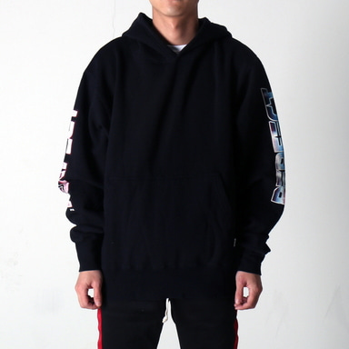 [쿠드그라스 연말 FINAL SALE] [EPTM] GRAPHIC SIDE ZIP HOODIE (BLACK)