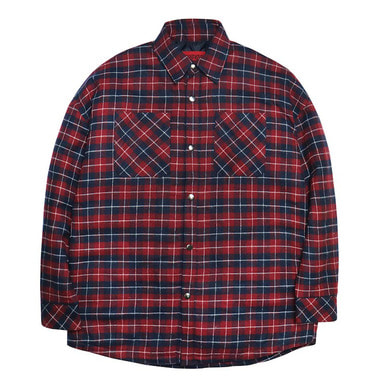 [DEADEND] RED OVERSIZE PADDING SHIRTS