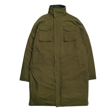 [DEADEND] KHAKI SIDE ZIP LONG PADDING
