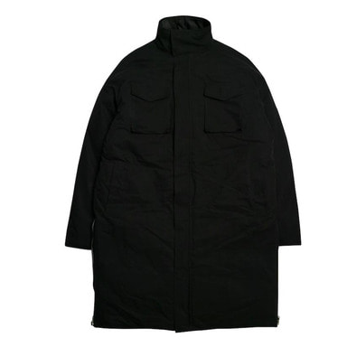 [DEADEND] BLACK SIDE ZIP LONG PADDING