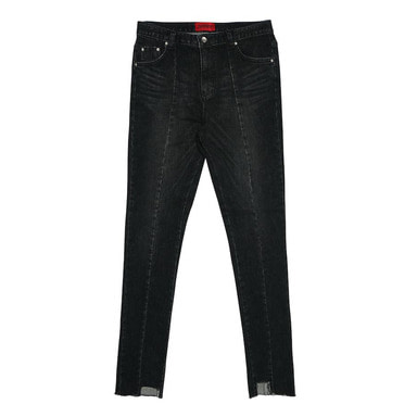 [DEADEND] BLACK IMBALANCE CROPPED JEANS