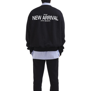 [RCNP] BACK PRINTED SWEATSHIRT (BLACK)