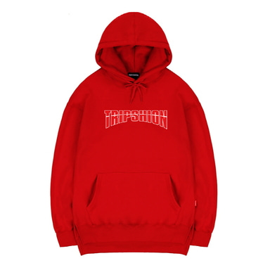 TRIPSHION ARCH LOGO HOODIE - RED