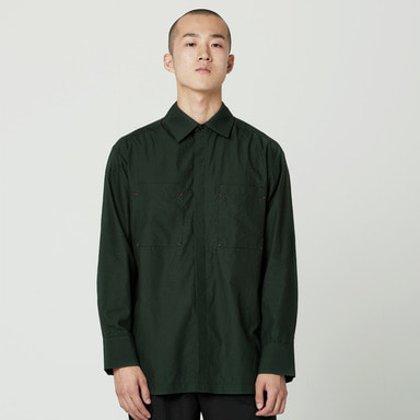 [NOVELLA] POCKET SHIRT DEEPGREEN
