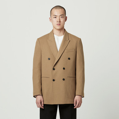 [NOVELLA] WOOL DOUBLE JACKET (BEIGE)