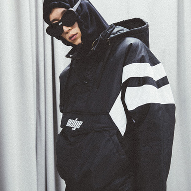 [쿠드그라스 연말 FINAL SALE] [NEIGE] PULLOVER SKI JACKET (BLACK)