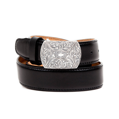 [AGINGCCC] 251# 1890 92.5 SILVER CW OFFICER BELT-WESTERN