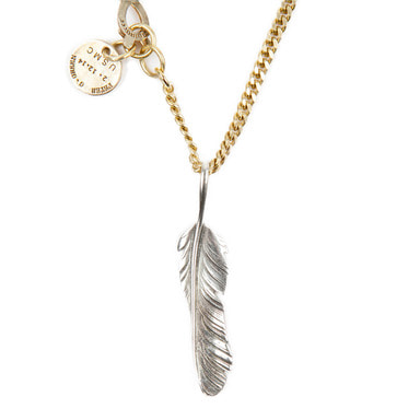 [AGINGCCC] 254# SOLIDBRASS FEATHER NECKLACE-NO.1