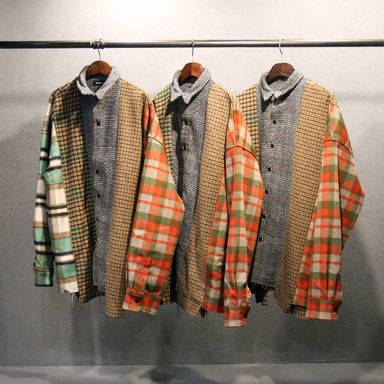 [발매기념 10% 세일] [COUPDEGRACE] REBUILD 5 CUTS FLANNEL SHIRT (MULTI)