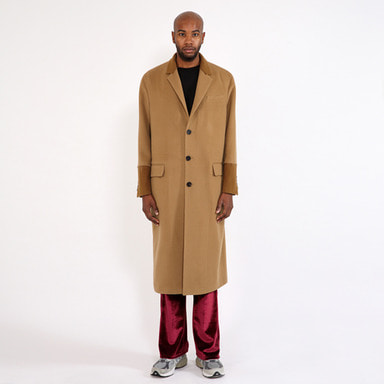 [SAINT SHOW] C-CASHMERE OVERSIZED LONG COAT · CAMEL