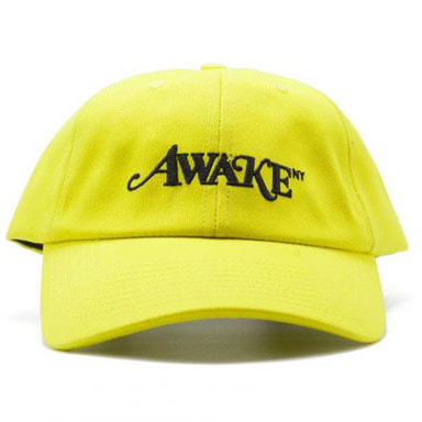 [AWAKE] AWAKE NEW YORK LOGO BALL CAP (NEON YELLOW)