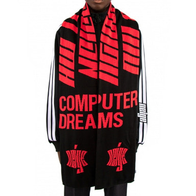 [$ SHOP SALE] [NEIGE] LOGO SCARF (BLACK/RED)