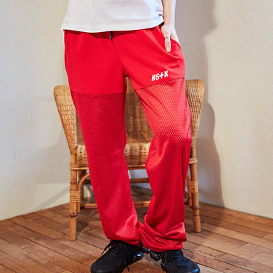 [2018 SPRING SEASON OFF] [NSTK] NSTK MESH JERSEY TRACK PANTS (RED)