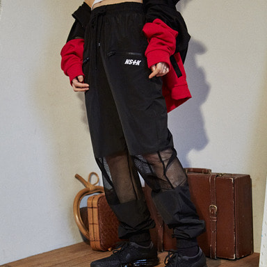 [2018 SPRING SEASON OFF] [NSTK] MESH POINT JOGGER PANTS (BLK)