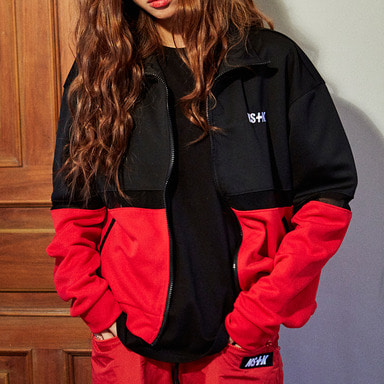 [2018 SUMMER SALE] [NSTK] NSTK MESH POINT JERSEY TRACK TOP (BLK)