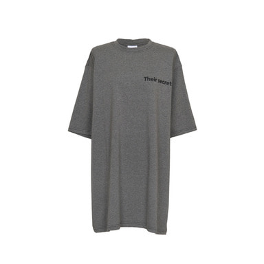 [VAN CALLE CAMINOS] Calle secrets oversized T-shirt (Grey)