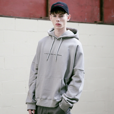[MASSNOUN] CRUCIFIXION SCOTCH LINE HOODIE MFVHD004-GY