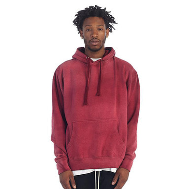 [$ SHOP SALE] [EPTM] POWER WASHED HOODIE (BURGUNDY)