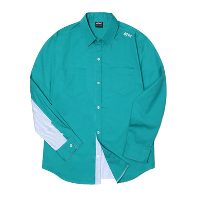 [2018 SPRING SEASON OFF] [NSTK] NELEMENT SHIRTS (GREEN)