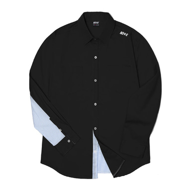 [2018 SPRING SEASON OFF] [NSTK] NELEMENT SHIRTS (BLK)