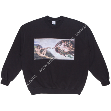[ACME DE LA VIE] ADLV VINTAGE WASHING SWEAT T-SHIRT (BLACK) HEAVEN 빈티지 워싱 맨투맨 천지창조