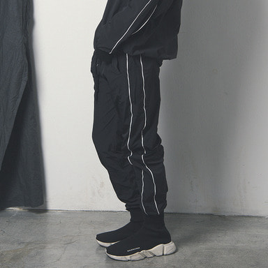 [WANTON] WINDBREAK JOGGER PANTS BLACK