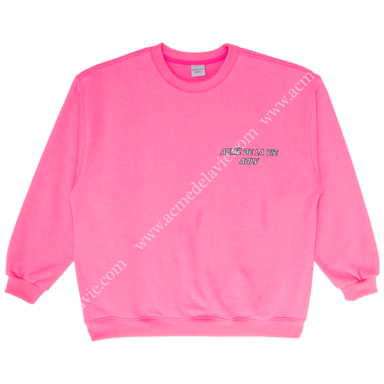 "[ACME DE LA VIE] ADLV SWEATSHIRTS ""I CAN'T TAKE IT"" NEON PINK 네온 핑크 맨투맨"